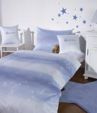 Dětské povlečení do velké postele Bauer -  KLEINER STERN - modre