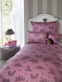 Dětské povlečení do velké postele Bauer - WALDFREUNDE - růžové