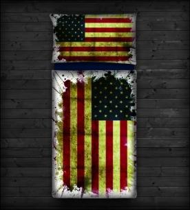 Modré povlečení USA