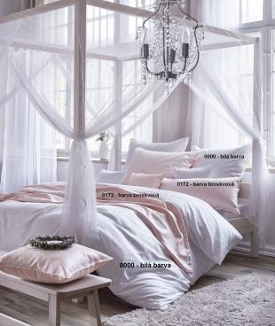 Luxusní damaškové povlečení FINJA - bílé
